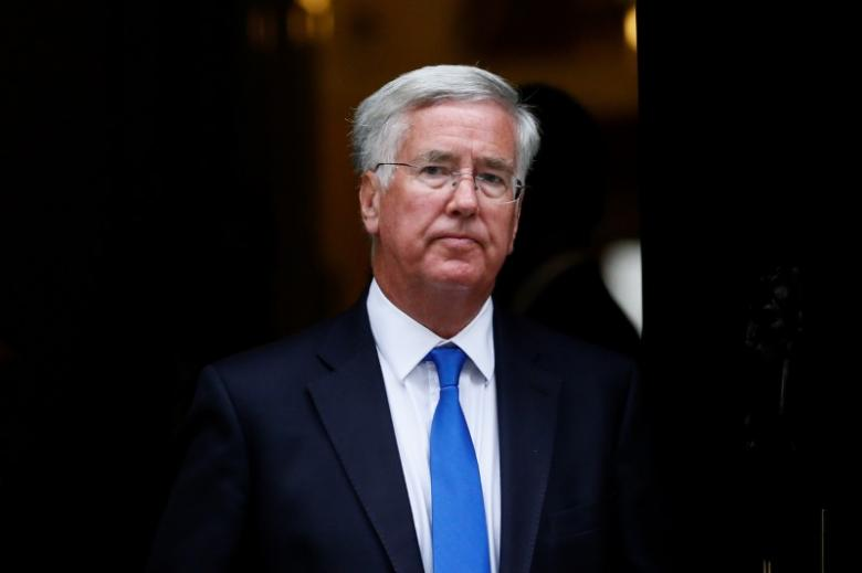 Britain's Secretary of State for Defence Michael Fallon leaves after attending a cabinet meeting at Number 10 Downing Street in London, Britain September 8, 2015. REUTERS/Stefan Wermuth/File Photo