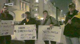 ГЕРМАНИЯ: ПРОТЕСТ ПРОТИВ МАРША ФАШИСТОВ В ЛАТВИИ