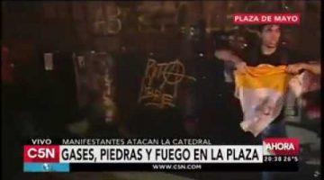 Содомиты и феминистки Аргентины учинили новый погром традиционалистам