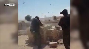 [18+] СИРИЯ: 4-Х ТЕРРОРИСТОВ ИГИЛ РАЗОРВАЛО НА ЧАСТИ