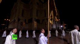 Патриаршее пасхальное богослужение в храме Христа Спасителя