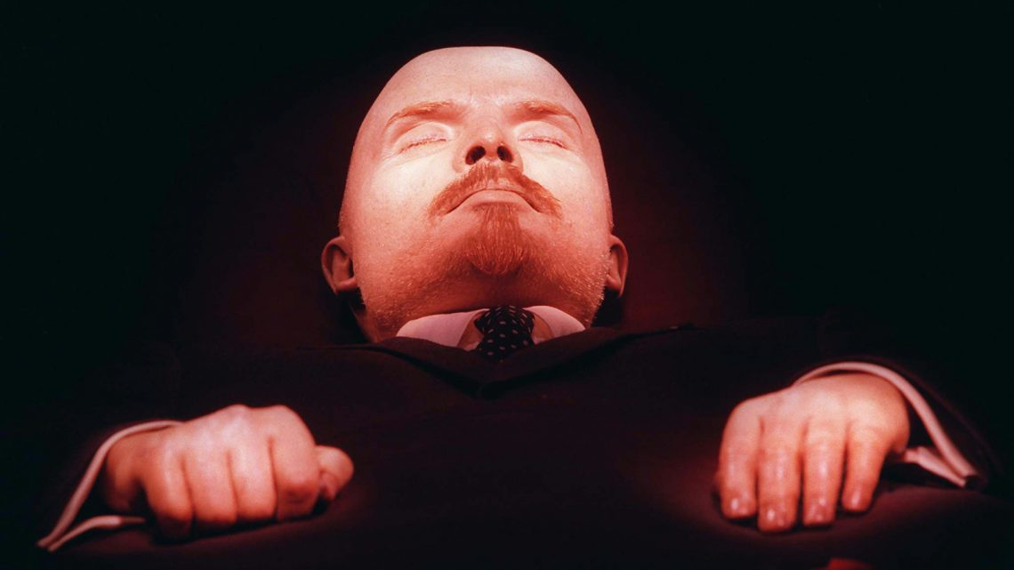 This April 16, 1997 file photo shows Vladimir Lenin, founder of the Soviet Union, embalmed in his tomb on Moscow's Red Square. Two decades after the Soviet Union collapsed, a visit to its founder is more about creepy kitsch than political pilgrimage, but still a potent view into the totalitarian psyche. Open 10 a.m.-1 p.m. Tuesday-Thursday and Saturday-Sunday. Entrance is free, but bags, cameras and phones must be checked for a fee. To make this a true freebie, go with a companion who can hold your gear and then switch off. The line moves briskly and the tag-team method won't eat up much extra time.(AP Photo/Sergei Karpukhin)