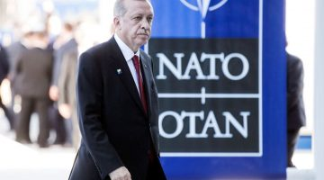 epa05990089 Turkish President Recep Tayyip Erdogan leaves after a ceremony at the NATO summit in Brussels, Belgium, 25 May 2017. NATO countries' heads of states and governments gather in Brussels for a one-day meeting.  EPA/ETIENNE LAURENT
