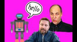 Общение Андрея Парубия с роботом