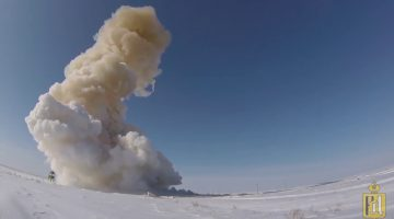 Минобороны РФ показало пуск модернизированной ракеты системы ПРО