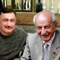 Герой Советского Союза, Геворк Андреевич Варданян вместе с президентом Академии Геополитики академиком Араиком Саргсяном