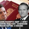 Российские паспорта ЛДНР — ответ на «жесткую подставу» Зеленским «украинской партии» в Москве