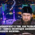 «Это законопроект о том, как развалить Россию»: Кавказ возмущен законопроектом «о домашнем насилии»